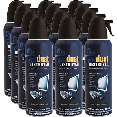 Dust Destroyer - Air comprimé, 7 oz, paq./12