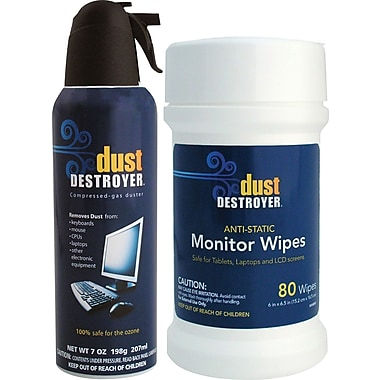 Dust Destroyer Monitor Wipes  and Duster Combo