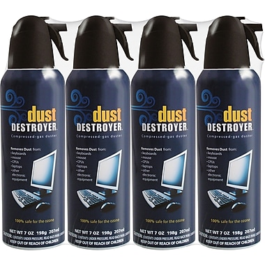 Dust Destroyer Compressed Air 7oz, 4-Pack