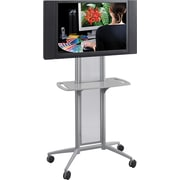 "Safco 65 1/2"" x 38"" x 20"" Impromptu Flat Panel TV Cart Gray (8926GR)"