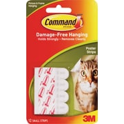 Command™ Poster Strips, White, 12/Pack