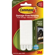 Command™ Large Picture Hanging Strips, White, 4/Pack
