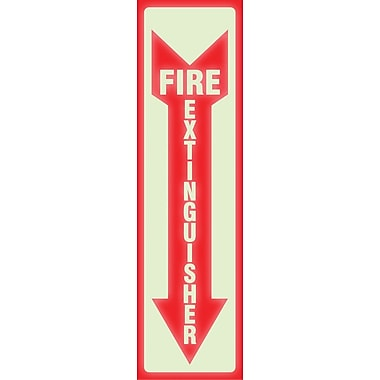 Headline Sign® Glow-in-the-Dark FIRE EXTINGUISHER Sign, 13