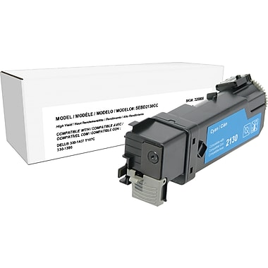 Sustainable Earth by Staples Compatible Cyan Laser Toner Cartridge, Dell 2130 (330-1437, T107C), High Yield