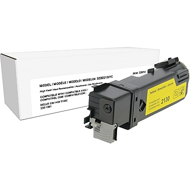 Sustainable Earth by Staples Remanufactured Yellow Toner Cartridge, Dell 2130 (330-1438, T108C), High Yield
