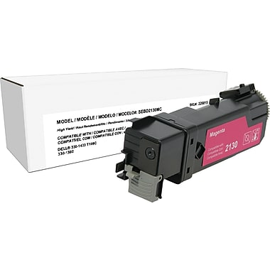 Staples™ Remanufactured Magenta Toner Cartridge, Dell 2130 (330-1433, T109C), High Yield