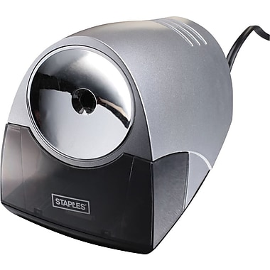 Staples® Power Pro Electric Pencil Sharpener, Medium-Duty, Gray