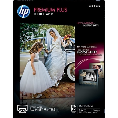 HP Premium Plus Photo Paper, 8 1/2