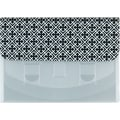 Staples Cascading Horizontal Poly File, Letter Size, Black and White Pattern