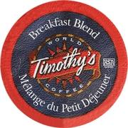 Timothy's Breakfast Blend K-Cup Refills, 30/Pack