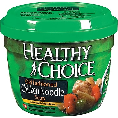 Healthy Choice® Microwavable Soup Cups, Chicken with Mini Noodles, 14 oz. Cans, 12 Cans/Box