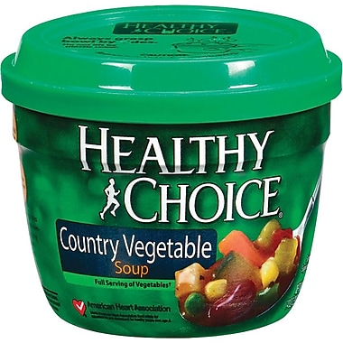 Healthy Choice Microwavable Soup Cups, Country Vegetabe, 14 oz. Cans, 12 Cans/Box