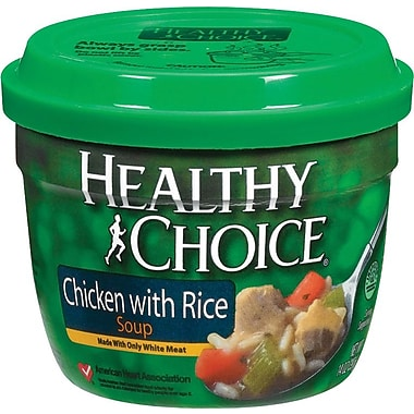 Healthy Choice Microwavable Soup Cups, Chicken with Rice, 14 oz. Cans, 12 Cans/Box
