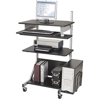 Balt Fully-Adjustable Mobile Workstation, Black