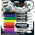 Sharpie® Stained™ Brush Tip  Fabric Markers, Assorted Colors, 8/Pack