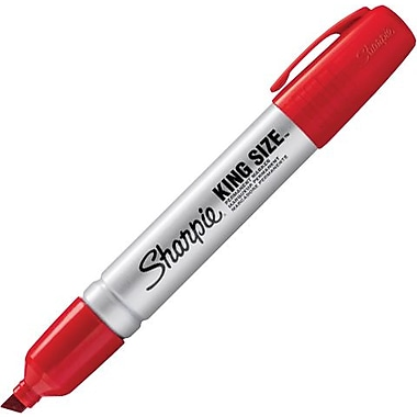 Sharpie® King Size™ Chisel Tip Permanent Markers, Red, Dozen