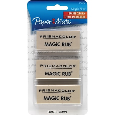 Prismacolor  MAGIC RUB Art Eraser, White, 3/pk (70503)
