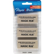 Prismacolor ® MAGIC RUB ® Vinyl Art Eraser, White, 3/Pack