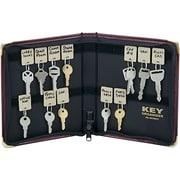 "MMF Industries™ Portable Zippered Key Case, Burgundy, 8 3/8""H x 7""W x 1 1/4""D"