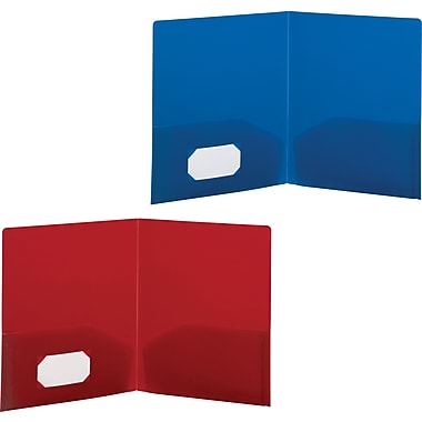 Storex Recycled Poly 2-Pocket Folders
