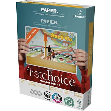 Domtar FirstChoice ColourPrint® Paper, 28 lb., 8 1/2