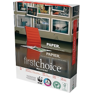 Domtar Company First Choice  MultiUse Premium Paper, White, 8 1/2in.(W) x 11in.(L), 5000/Ctn