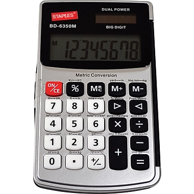 Staples® 8-Digit Metric Conversion Handheld Calculator