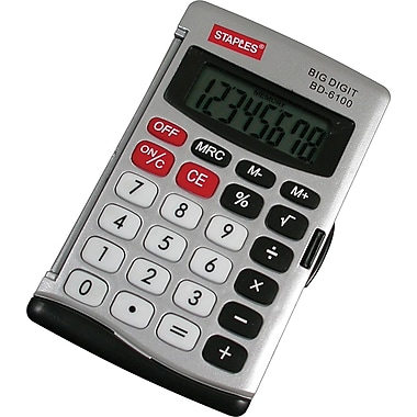 Staples® 8-Digit Handheld Calculator