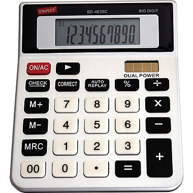 Staples® 10-Digit Check-and-Correct Desktop Calculator