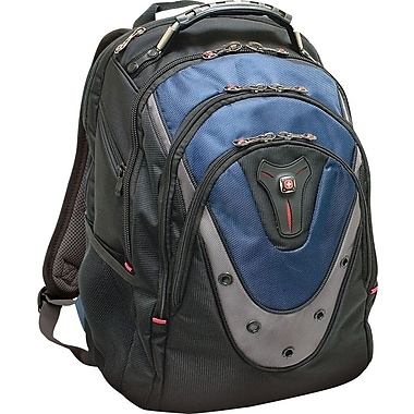 SwissGear® Ibex Laptop Backpack, Black/Blue, 17in.