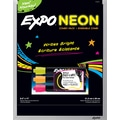 Expo® Expo® Black Magnetic Dry-Erase Board with Neon Markers , 8in. x 11in.