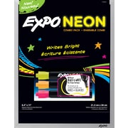 Expo® Expo® Black Magnetic Dry-Erase Board with Neon Markers , 8 x 11