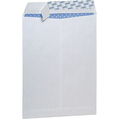 Staples Tear-Resistant Privacy Tint Catalog Envelopes, 9 x 12, White