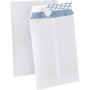 Staples Tear-Resistant Privacy Tiny Catalog Envelopes, 6 x 9, White