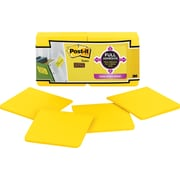 Post-it® Super Sticky Full Adhesive 3 x 3 Yellow Notes, 12 Pads/Pack