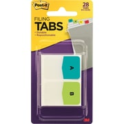 Post-it® Preprinted Letter Tabs, Assorted Colors, 28 Tabs/Pack