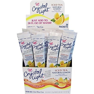 Crystal Light On the Go, Iced Tea, .08 oz., 30 Packets/Box