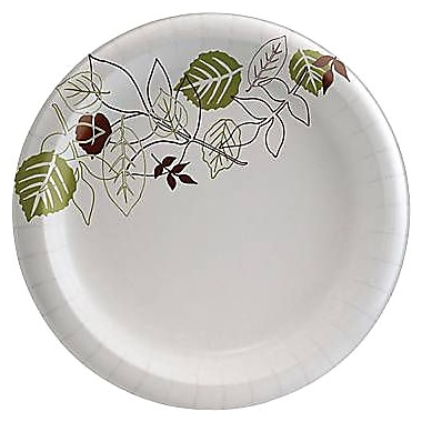 Dixie® Pathways™ Heavyweight Paper Plates, 10in., 125/Pack