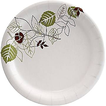 "Dixie Pathways Medium Weight Paper Plates, 6-7/8"", 500/Case (UX7WS)"