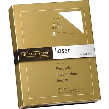 Southworth® Laser Paper, 20 lb., 8 1/2in. x 11in., White