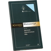 SOUTHWORTH® Manuscript Covers, 9 x 15 1/2, 30 lb., Smooth Finish, Blue, 0/Box