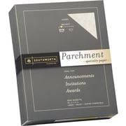 SOUTHWORTH® Parchment Specialty Paper, 8 1/2 x 11, 24 lb., Parchment Finish, Ivory, 500/Box
