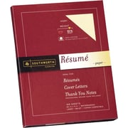 SOUTHWORTH® 0% Cotton Resume Paper, 8 1/2 x 11, 32 lb., Wove Finish, Ivory, 0/Box