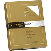 SOUTHWORTH® Laser Paper, 8 1/2 x 11, 24 lb., Smooth Finish, White, 500/Box