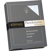 SOUTHWORTH® Parchment Specialty Paper, 8 1/2 x 11, 24 lb., Parchment Finish, Blue, 500/Box