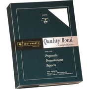 SOUTHWORTH® Quality Bond #1 Sulphite Paper, 8 1/2 x 11, 20 lb., Wove Finish, White, 500/Box