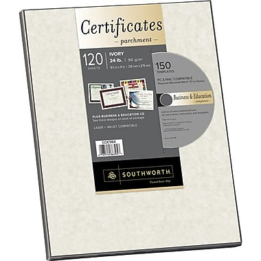 Southworth® in.Create Your Ownin. Certificate Paper with CD, Ivory