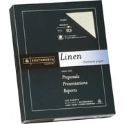 SOUTHWORTH® Linen Business Paper, 8 1/2 x 11, 32 lb., Linen Finish, Ivory, 250/Box