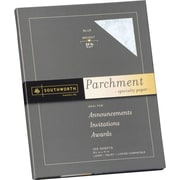 SOUTHWORTH® Parchment Specialty Paper, 8 1/2 x 11, 24 lb., Parchment Finish, Blue, 100/Box