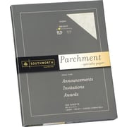 SOUTHWORTH® Parchment Specialty Paper, 8 1/2 x 11, 24 lb., Parchment Finish, Ivory, 100/Box